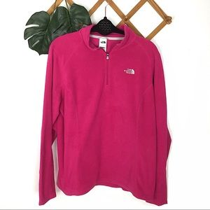 North Face | Pink Fleece Pullover Sweater XL